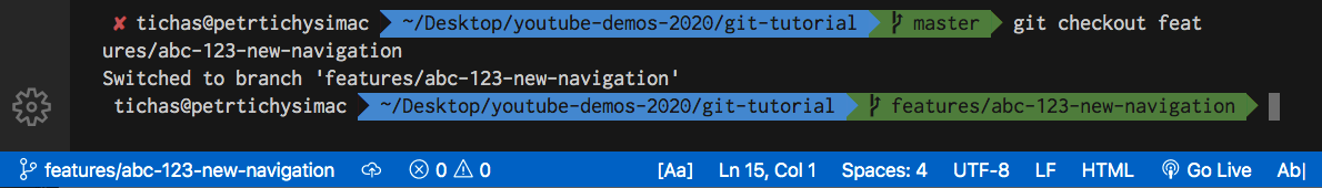 How to switch to Git branch