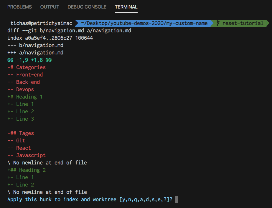 Git reset tutorial